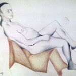Male Nude, reclining